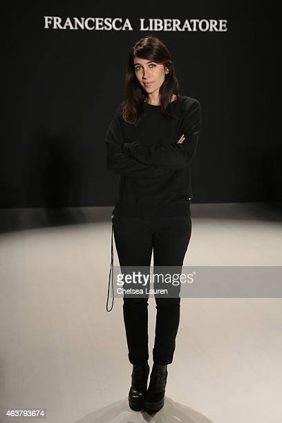 Designer Francesca Liberatore poses before the Francesca Liberatore fashion show during MercedesBenz Fashion Week Fall 2015 at The Salon at Lincoln...