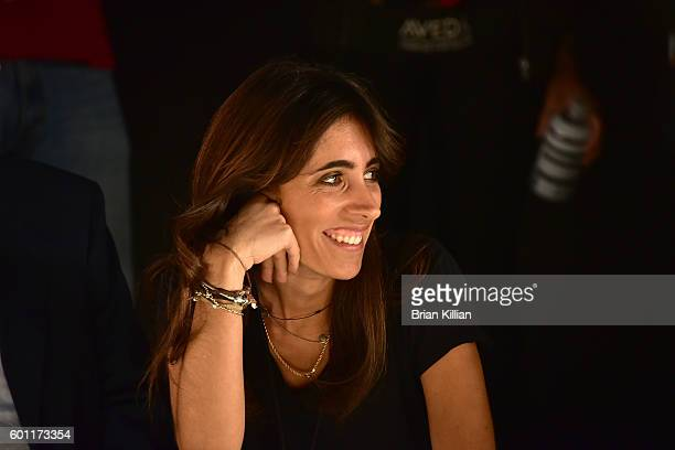 Designer Francesca Liberatore watches rehearsal just before the start of the Francesca Liberatore show during September 2016 New York Fashion Week...