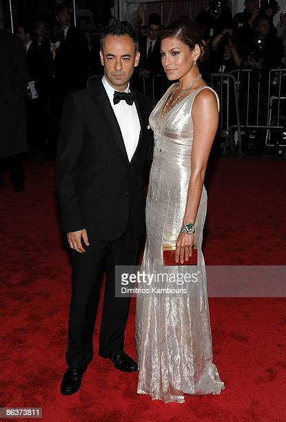 """Designer Francisco Costa and actress Eva Mendes attend """"The Model as Muse: Embodying Fashion"""" Costume Institute Gala at The Metropolitan Museum of..."""