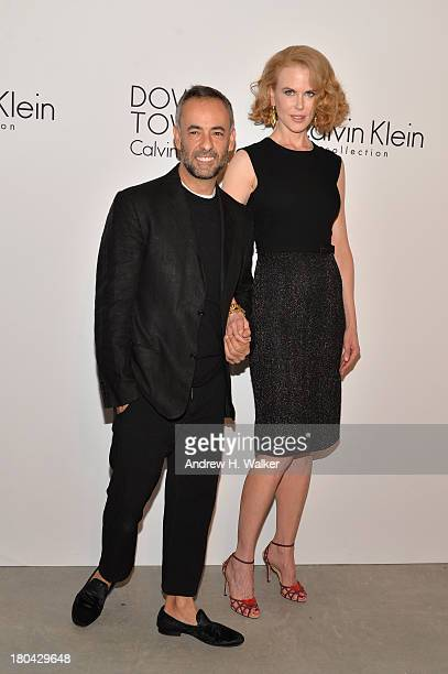 Designer Francisco Costa and actress Nicole Kidman attend the Calvin Klein Collection post fashion show event during MercedesBenz Fashion Week Spring...