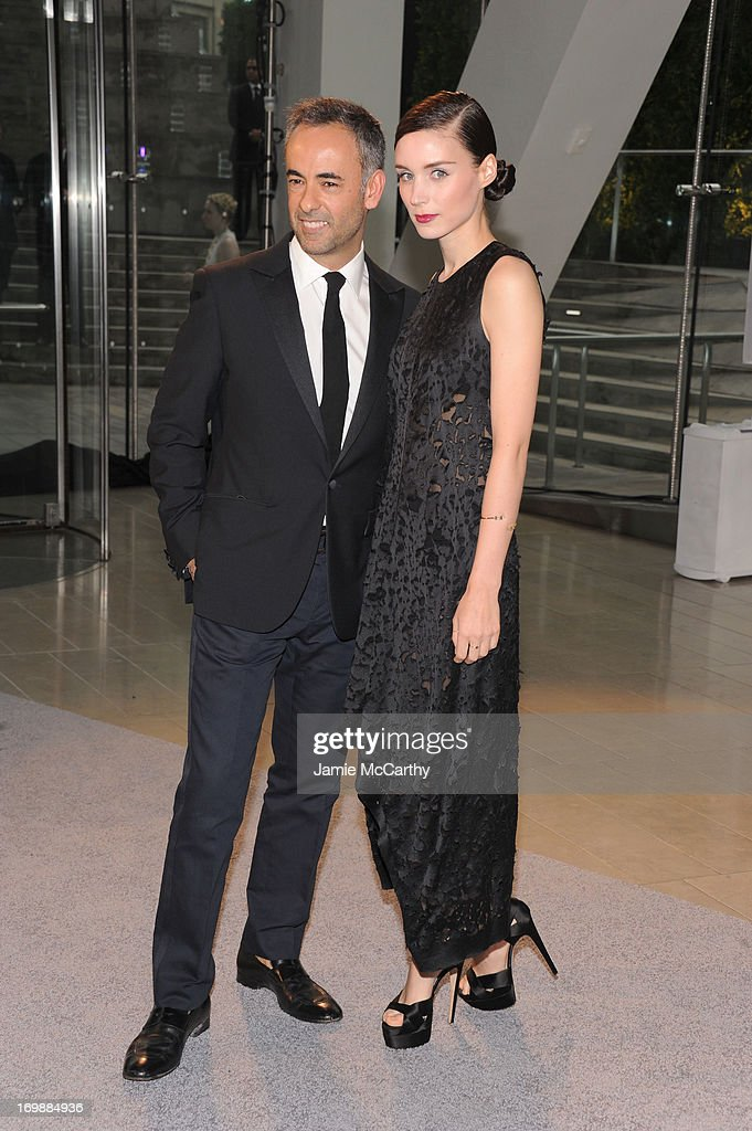 Designer Francisco Costa (L) and actress Rooney Mara attend 2013 CFDA Fashion Awards at Alice Tully Hall on June 3, 2013 in New York City.