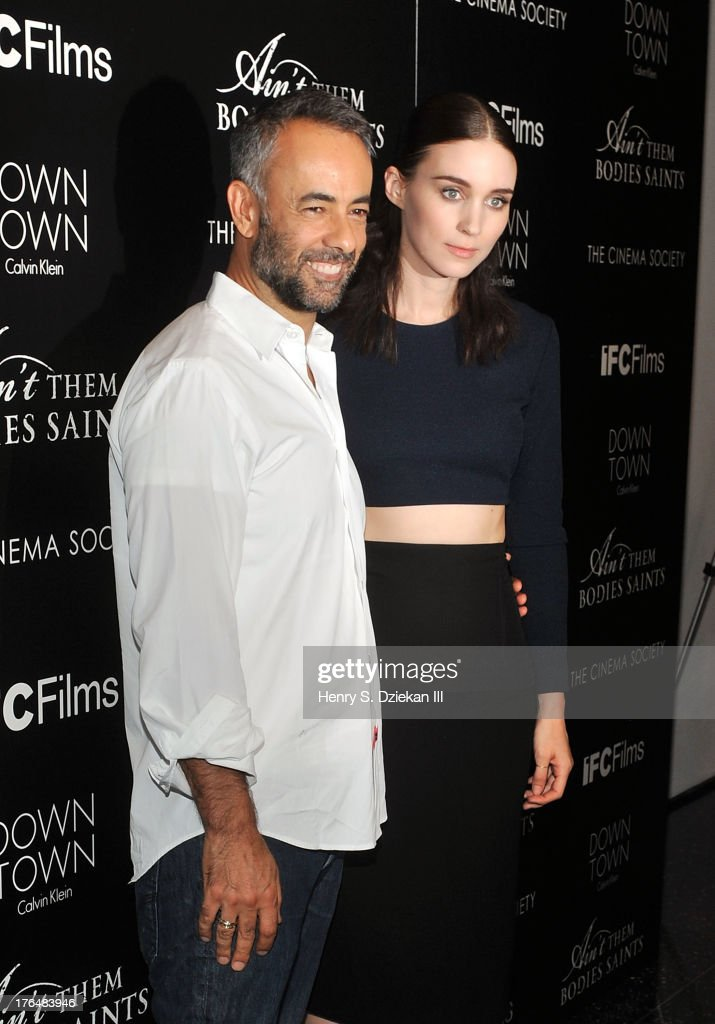 Designer Francisco Costa and actress Rooney Mara attend the Downtown Calvin Klein with The Cinema Society screening of IFC Films' 'Ain't Them Bodies Saints' at Museum of Modern Art on August 13, 2013 in New York City.