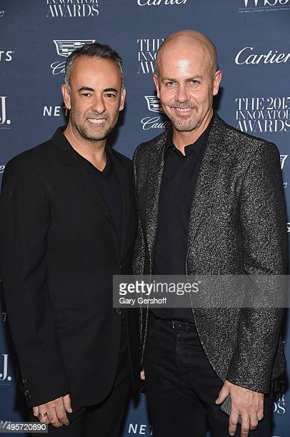 Designer Francisco Costa and Creative Director of Calvin Klein Collection designer Italo Zucchelli attend the 2015 WSJ Magazine Innovator Awards at...