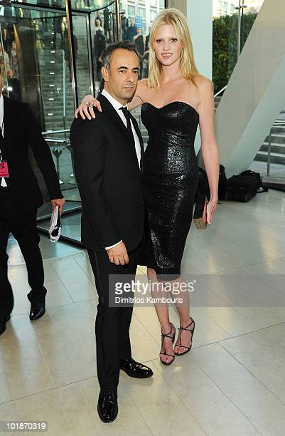 Designer Francisco Costa and model Lara Stone attend the 2010 CFDA Fashion Awards at Alice Tully Hall Lincoln Center on June 7 2010 in New York City