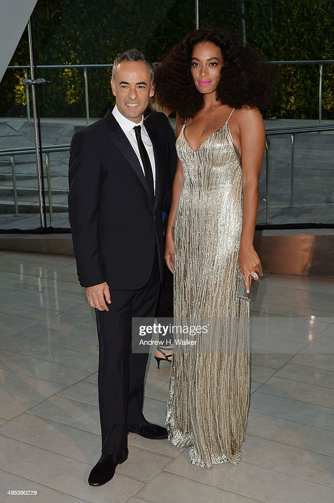 Designer Francisco Costa (L) and Solange attend the 2014 CFDA fashion awards at Alice Tully Hall, Lincoln Center on June 2, 2014 in New York City.
