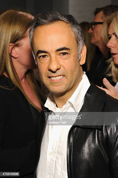 Designer Francisco Costa attends Fashion Lives' book launch at Saks Fifth Avenue on April 20 2015 in New York City
