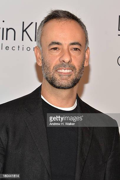 Designer Francisco Costa attends the Calvin Klein Collection post fashion show event during MercedesBenz Fashion Week Spring 2014 at Spring Studios...