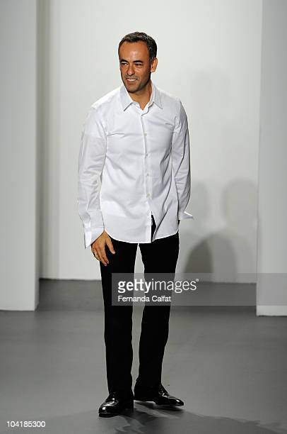 Designer Francisco Costa on runway at the Calvin Klein Spring 2011 fashion show during MercedesBenz Fashion Week at 205 West 39th Street on September...