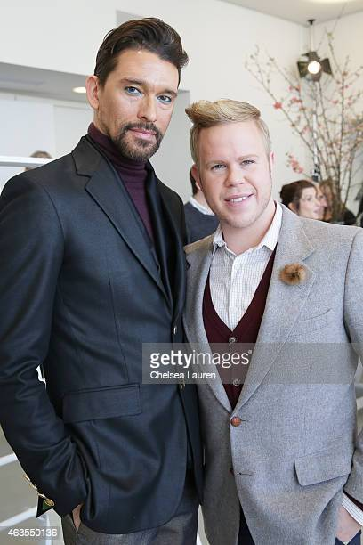 Designer Franco Lacosta and Andrew Werner pose during the Franco Lacosta presentation on February 15 2015 in New York City