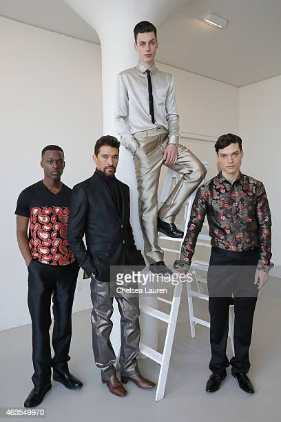 Designer Franco Lacosta and models pose during the Franco Lacosta presentation on February 15 2015 in New York City
