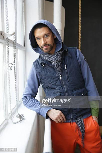 Designer Franco Lacosta poses backstage before the Franco Lacosta presentation on February 15 2015 in New York City