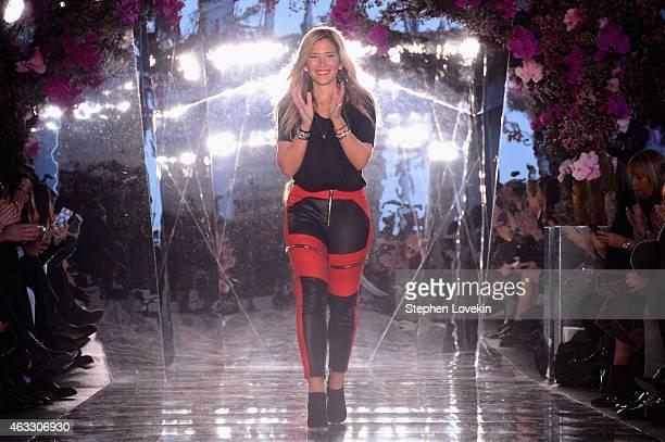 Designer Gabriela Cadena walks the runway at the Gabriela Cadena fashion show during MercedesBenz Fashion Week Fall 2015 on February 12 2015 in New...