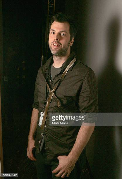 Designer Gary Graham poses backstage at the Gary Graham Spring 2006 fashion show during Olympus Fashion Week at Bryant Park September 10 2005 in New...