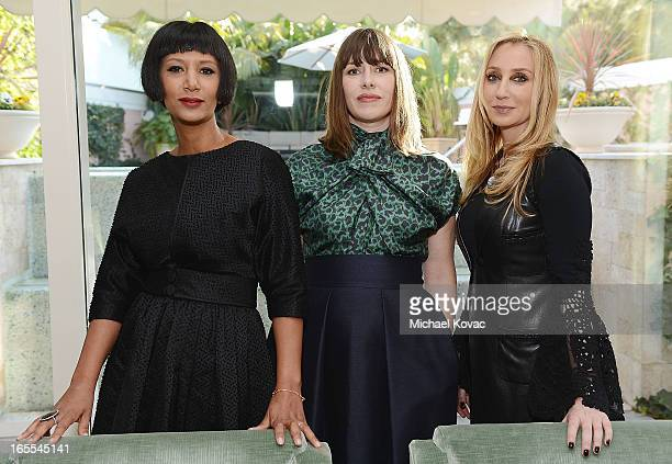 Designer Gelila Puck stylist Penny Lovell and personal shopper Catherine Bloom attend the US Launch of The Dorchester Collection Fashion Prize 2013...