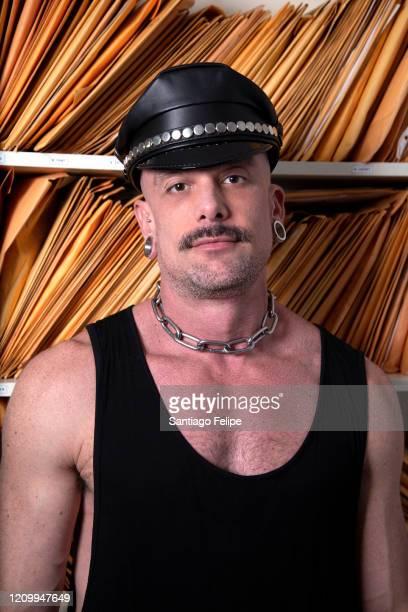 Designer Geoffrey Mac poses for a portrait on February 29 2020 at his studio in Bushwick Brooklyn New York