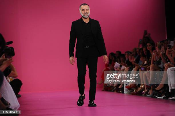 Designer Georges Hobeika walks the runway during the Georges Hobeika Haute Couture Fall/Winter 2019 2020 show as part of Paris Fashion Week on July...