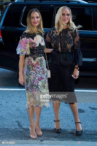 Designer Georgina Chapman and Keren Craig attend a dinner honoring Anna Wintour on June 26 2017 in New York City