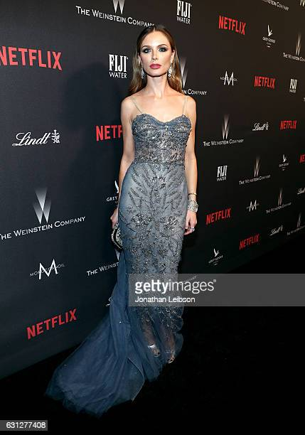 Designer Georgina Chapman at The Weinstein Company and Netflix Golden Globes Party presented with FIJI Water at The Beverly Hilton Hotel on January 8...