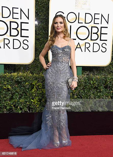 Designer Georgina Chapman attends the 74th Annual Golden Globe Awards at The Beverly Hilton Hotel on January 8 2017 in Beverly Hills California
