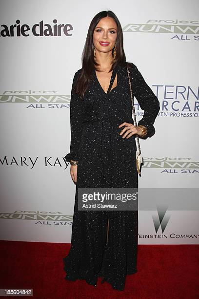 Designer Georgina Chapman attends the Project Runway All Stars Season 3 premiere party presented by The Weinstein Company and Lifetime in partnership...