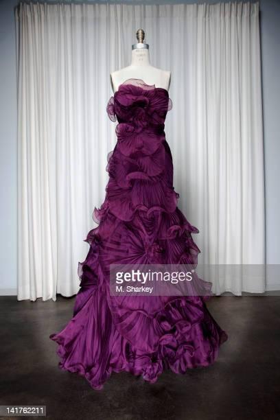 Designer Georgina Chapman's Marchesa dress, worn by Eva Longoria to the 2008 Metropolitan Museum of Art Costume Institute Gala, is photographed at...
