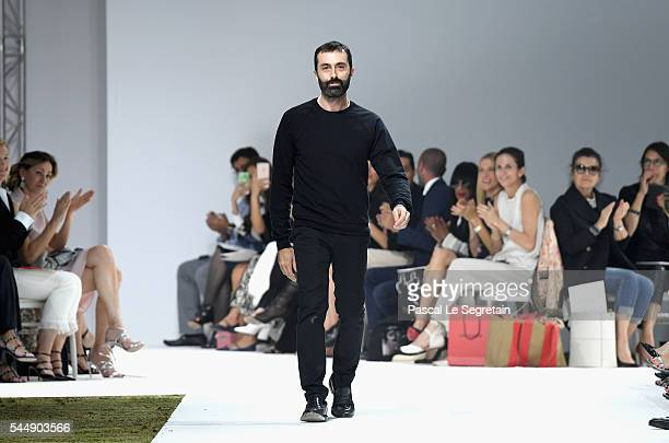 Designer Giambattista Valli is seen on the runway during the Giambattista Valli Haute Couture Fall/Winter 20162017 show as part of Paris Fashion Week...