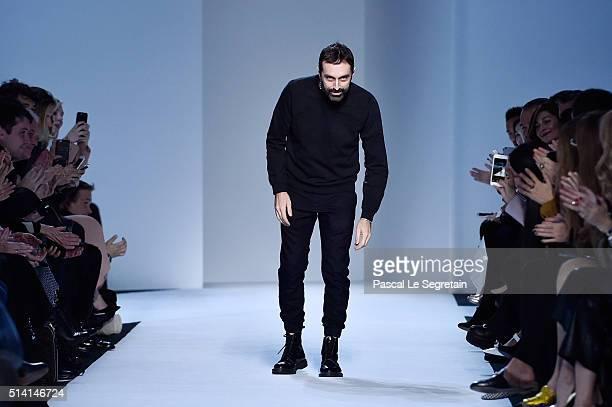 Designer Giambattista Valli walks the runway during the Giambattista Valli show as part of the Paris Fashion Week Womenswear Fall/Winter 2016/2017 on...