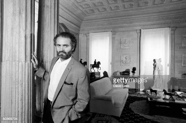 Designer Gianni Versace at home