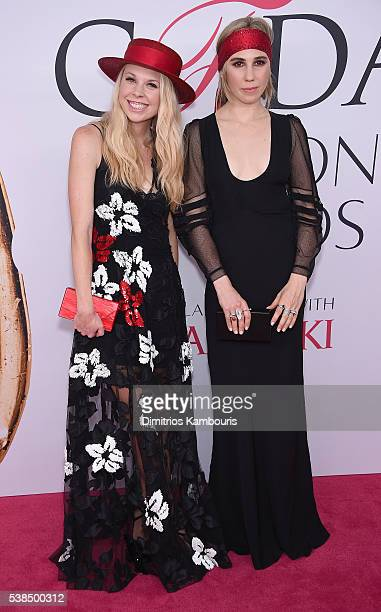 Designer Gigi Burris and actress Zosia Mamet attend the 2016 CFDA Fashion Awards at the Hammerstein Ballroom on June 6, 2016 in New York City.