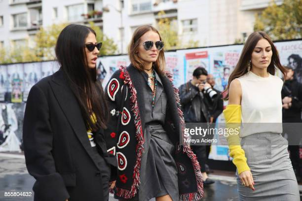 Designer Gilda Ambrosio and creative director Giorgia Tordini attend the Haider Ackermann show as part of the Paris Fashion Week Womenswear...