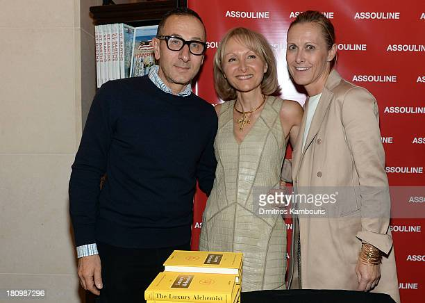Designer Gilles Mendel Author Ketty PucciSisti Maisonrouge and President and CEO of Reed Krakoff Valerie Hermann attend ASSOULINE Martine and Prosper...