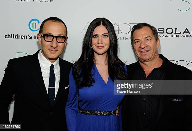 Designer Gilles Mendel host Rochelle GoresFredston and Alec Gores arrive at The 2nd Annual Autumn Party Featuring A Fashion Show By Yigal Azrouel...