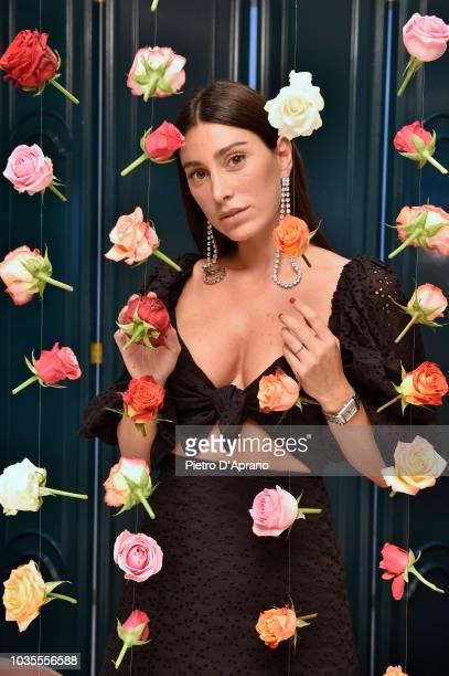 Designer Giorgia Gabriele poses at the Wandering presentation during Milan Fashion Week Spring/Summer 2019 on September 18 2018 in Milan Italy
