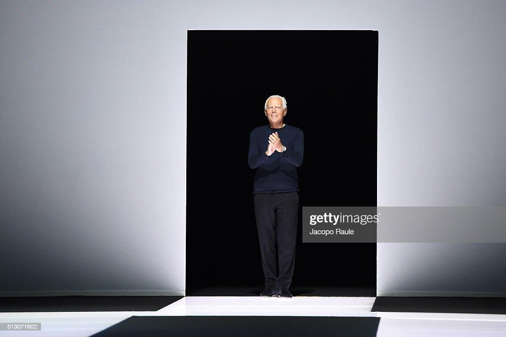 Giorgio Armani - Runway - Milan Fashion Week FW16 : Fotografía de noticias