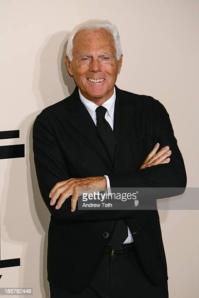 Designer Giorgio Armani attends Giorgio Armani - One Night Only New York at SuperPier on October 24, 2013 in New York City.