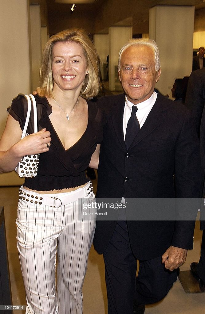 Designer Giorgio Armani With Lady Helen Taylor, Russell Crowe Oscar Nomination Cocktail & Dinner Party, New Giorgio Armani Shop, Bond Street & Supper & Hakkasan, London.