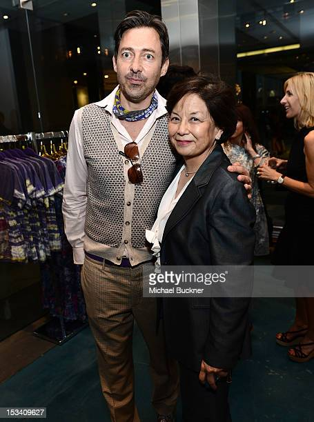 Designer Gregory Parkinson and Sharon Takeda attends the Director's Circle Celebration of WEAR LACMA Inaugural Designs by Johnson Hartig For...