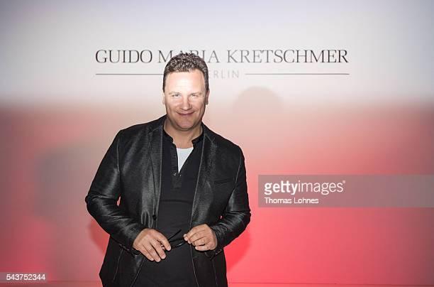 Designer Guido Maria Kretschmer at the Guido Maria Kretschmer show during the MercedesBenz Fashion Week Berlin Spring/Summer 2017 at Erika Hess...