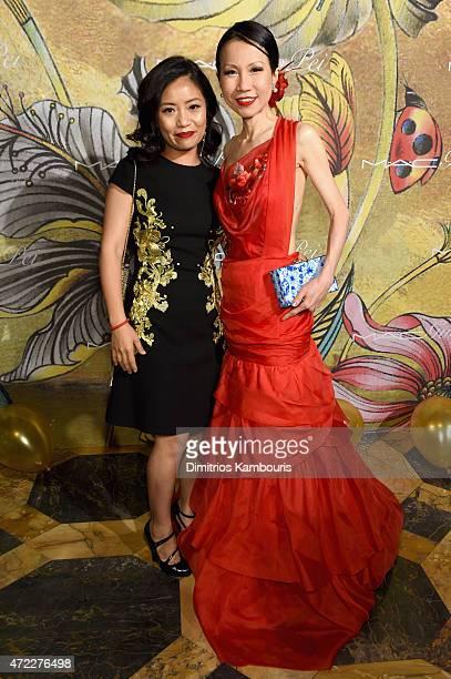 Designer Guo Pei and ChiuTi Jansen attend the MAC x Guo Pei dinner on May 5 2015 in New York City