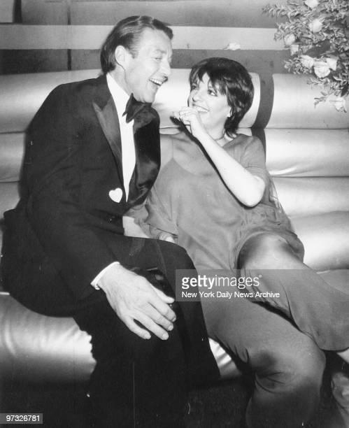Designer Halston with Liza Minnelli at Studio 54