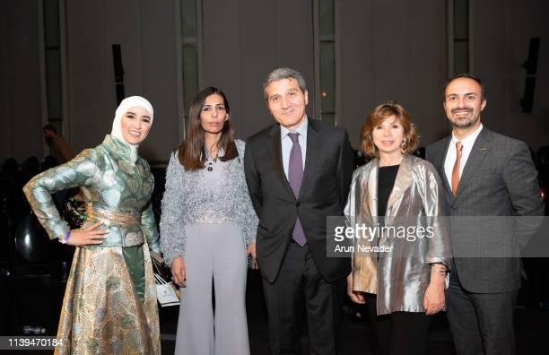 Designer Hama Yassen guest Italian Ambassador to Jordan HE Fabio Cassese Fashion Communication Consultant Maria Christina Rigano and Mohamad Khawaja...