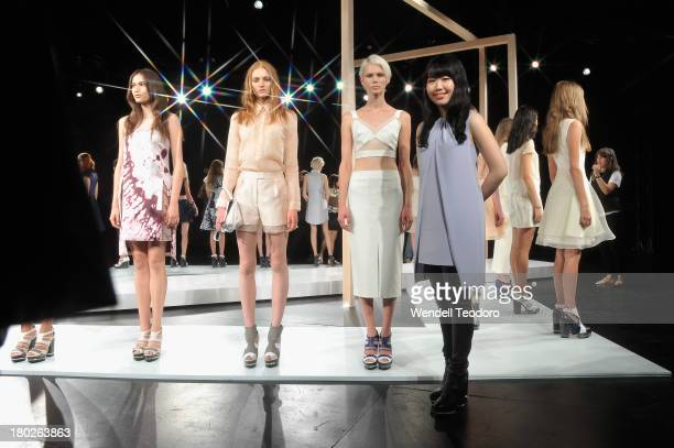 Designer Hanako Maeda attends the Adeam presentation during Spring 2014 MercedesBenz Fashion Week at The Box at Lincoln Center on September 10 2013...