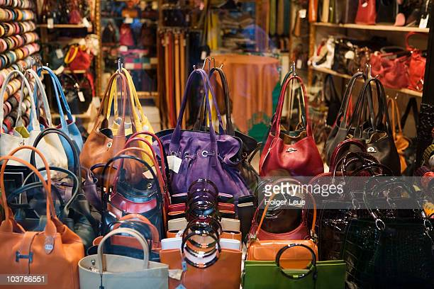 Designer handbag shop.