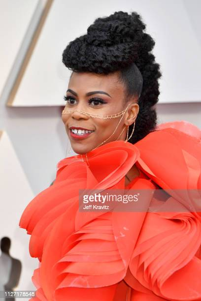Designer Hannah Beachler attends the 91st Annual Academy Awards at Hollywood and Highland on February 24 2019 in Hollywood California