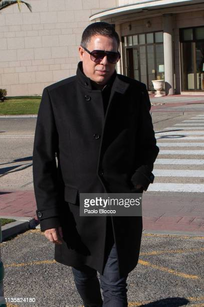 Designer Hannibal Laguna attends the Funeral Chapel for Cuca Solana on March 14 2019 in Madrid Spain