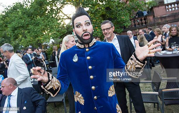 Designer Harald Gloeoeckler attend the opening night of the Nibelungen festival on July 31 2015 in Worms Germany