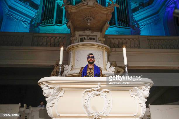Designer Harald Gloeoeckler gives a christmas sermon in the Ludwigskirche on November 27 2017 in Saarbruecken Germany The event is officially called...