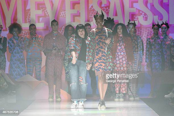 Designer Hayley Elsaesser presents her fall 2015 collection during World MasterCard Fashion Week Fall 2015 at David Pecaut Square on March 25 2015 in...