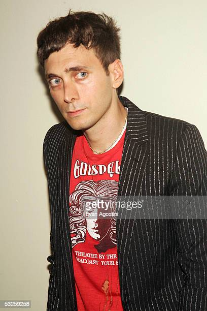 Designer Hedi Slimane attends the HBO Films and Picturehouse premiere of 'Last Days' at The Sunshine Theatre July 19 2005 in New York City
