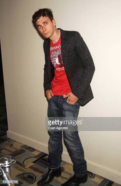 Designer Hedi Slimane attends the HBO Films and Picturehouse premiere of Last Days at The Sunshine Theatre July 19 2005 in New York City